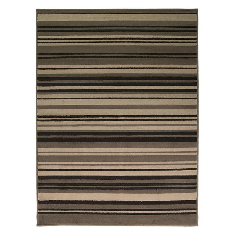 tapis noir et gris canterbury flair rugs 160x220. Black Bedroom Furniture Sets. Home Design Ideas