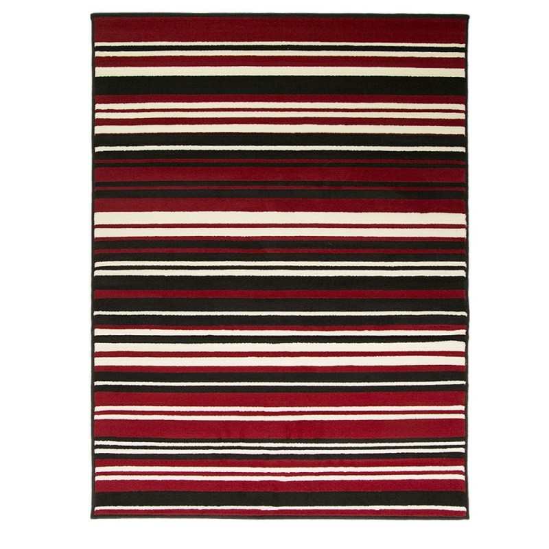 tapis noir et rouge canterbury flair rugs 160x220. Black Bedroom Furniture Sets. Home Design Ideas