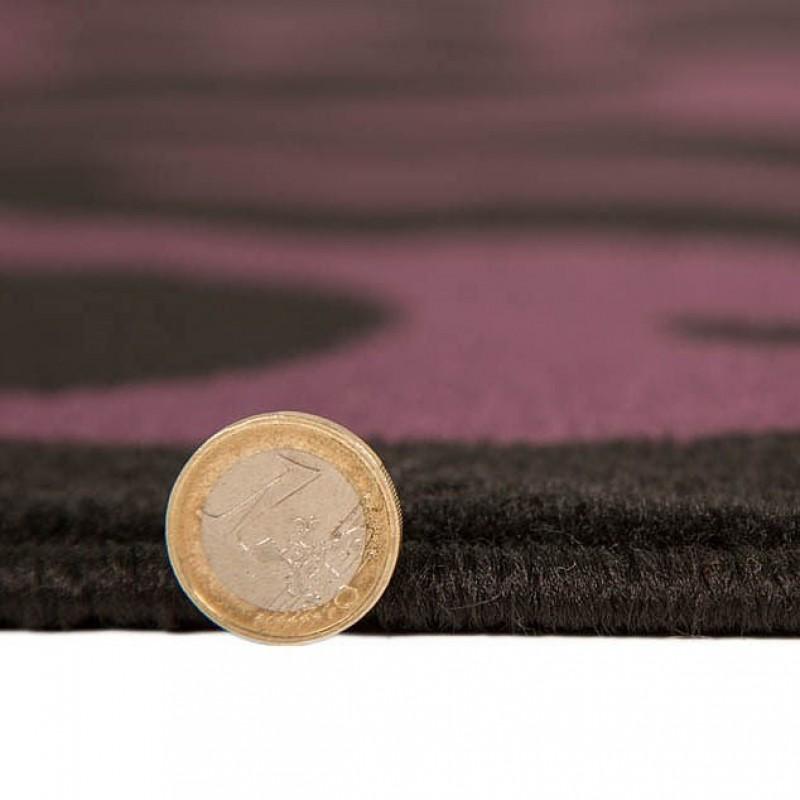 Tapis noir et violet warwick flair rugs 120x160 - Tapis noir et violet ...