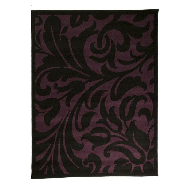 Tapis noir et violet warwick flair rugs 120x160 - Tapis violet et noir ...