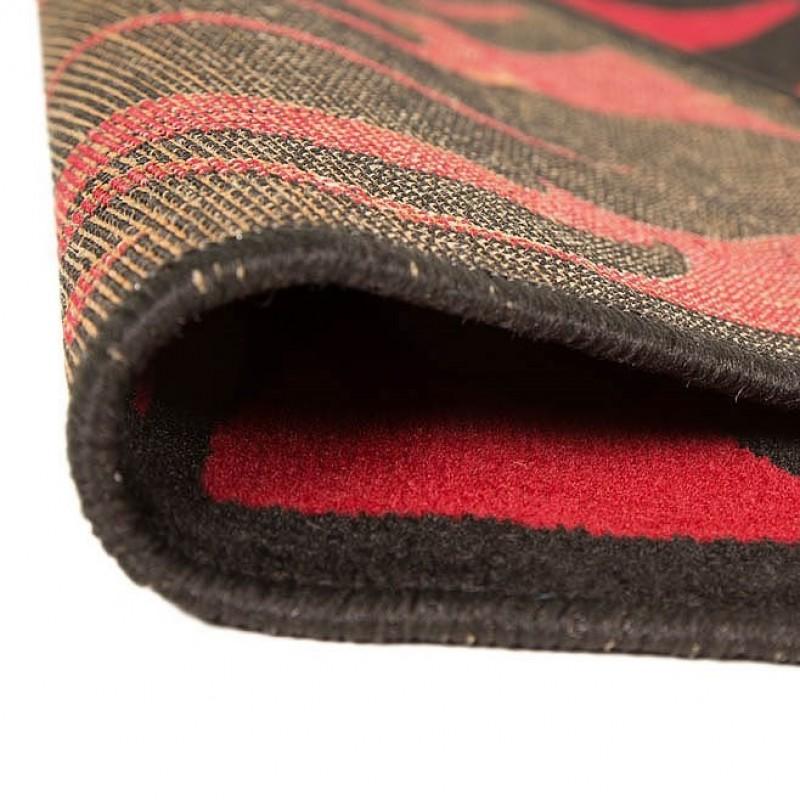 tapis noir et rouge warwick flair rugs 180x250. Black Bedroom Furniture Sets. Home Design Ideas