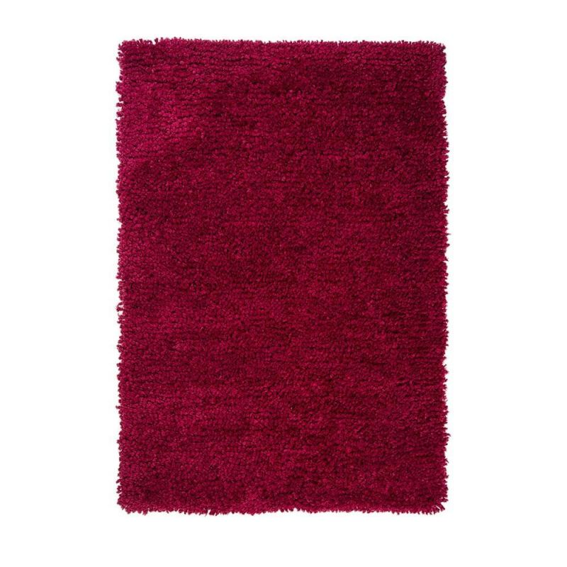 tapis shaggy tuft main rouge truffle flair rugs 160x230. Black Bedroom Furniture Sets. Home Design Ideas