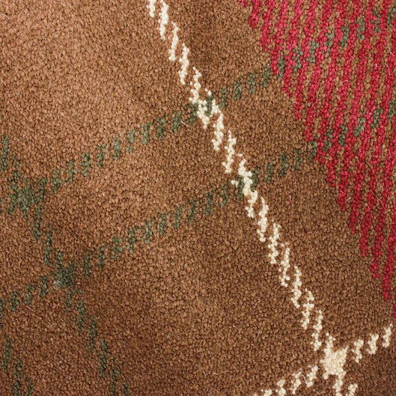 Tapis flair rugs marron et rouge kilry 120x170 for Tapis turquoise et marron