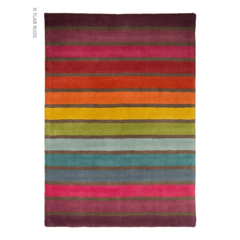 Tapis laine tuft main multicolore candy flair rugs 120x170 - Tapis laine multicolore ...