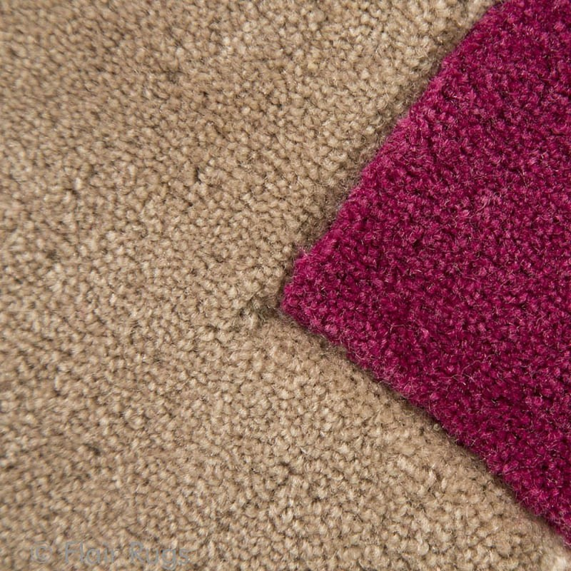 tapis tuft main rouge et beige stencil leaves flair rugs 80x150. Black Bedroom Furniture Sets. Home Design Ideas