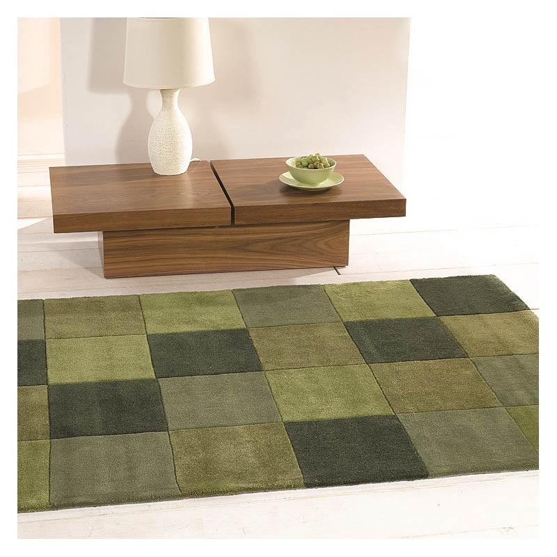 tapis tuft main vert squared flair rugs 80x150. Black Bedroom Furniture Sets. Home Design Ideas