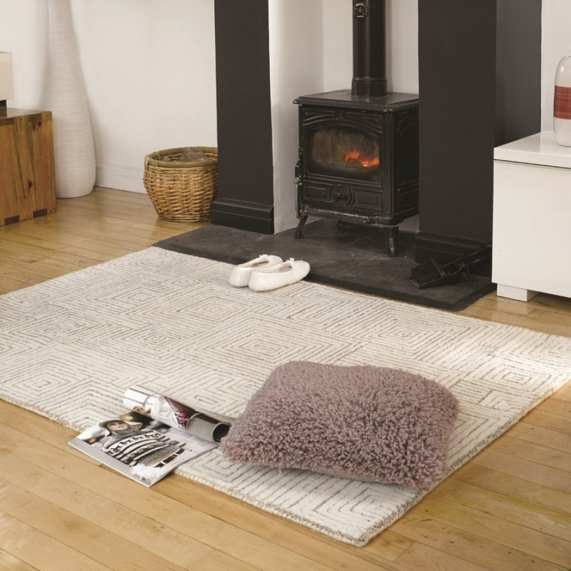 tapis laine fait main beige maze flair rugs 160x230. Black Bedroom Furniture Sets. Home Design Ideas