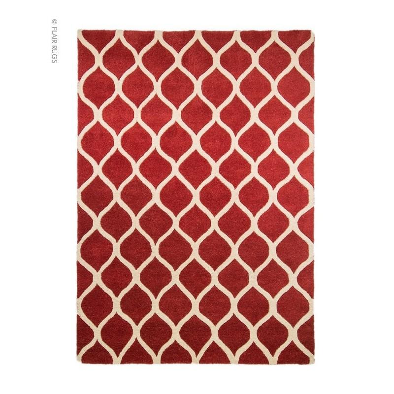 tapis en laine rouge fait main fes flair rugs 80x150. Black Bedroom Furniture Sets. Home Design Ideas