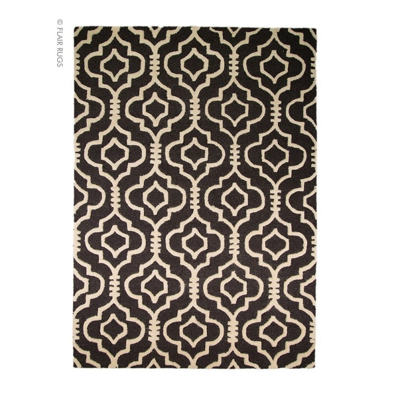tapis laine fait main anthracite morocoo flair rugs 160x230. Black Bedroom Furniture Sets. Home Design Ideas