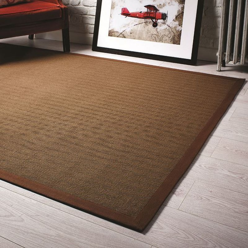 tapis de couloir antid rapant marron herringbone flair