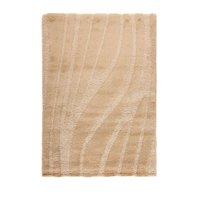 tapis shaggy ivoire onyx flair rugs 120x170. Black Bedroom Furniture Sets. Home Design Ideas