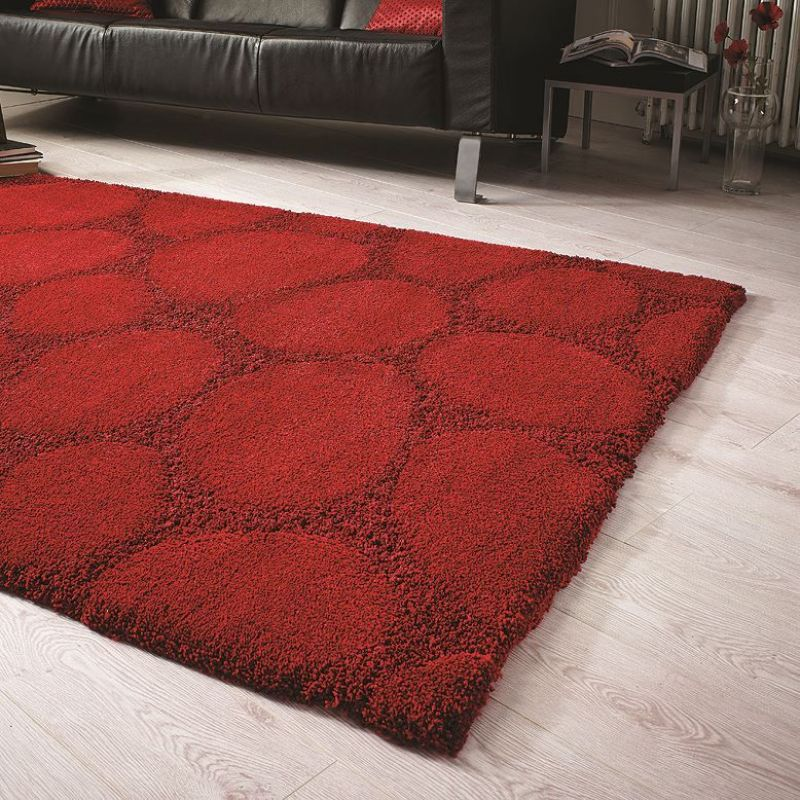 tapis shaggy rouge ruby flair rugs 120x170. Black Bedroom Furniture Sets. Home Design Ideas
