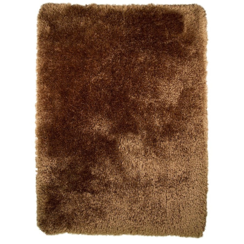 tapis shaggy tuft main marron pearl flair rugs 80x150. Black Bedroom Furniture Sets. Home Design Ideas