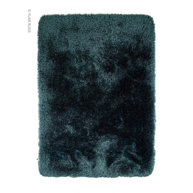 tapis shaggy tuft main bleu pearl flair rugs 160x230. Black Bedroom Furniture Sets. Home Design Ideas