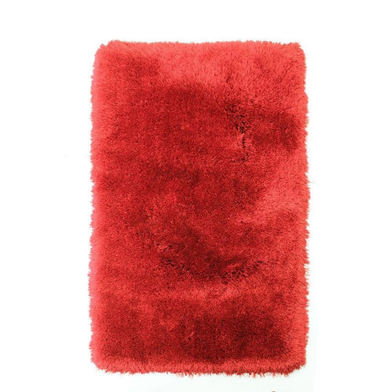 tapis shaggy flair rugs pearl tuft main rouge 120x170. Black Bedroom Furniture Sets. Home Design Ideas