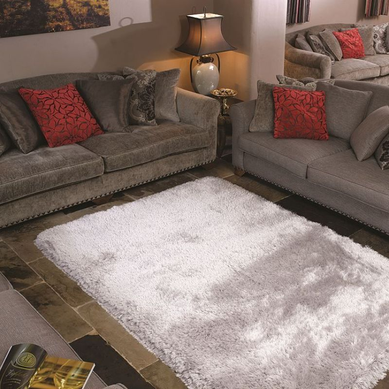 tapis shaggy carr pearl flair rugs argent 150x150. Black Bedroom Furniture Sets. Home Design Ideas