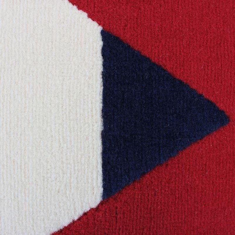Tapis moderne bleu et rouge heart stripe flair rugs 120x160
