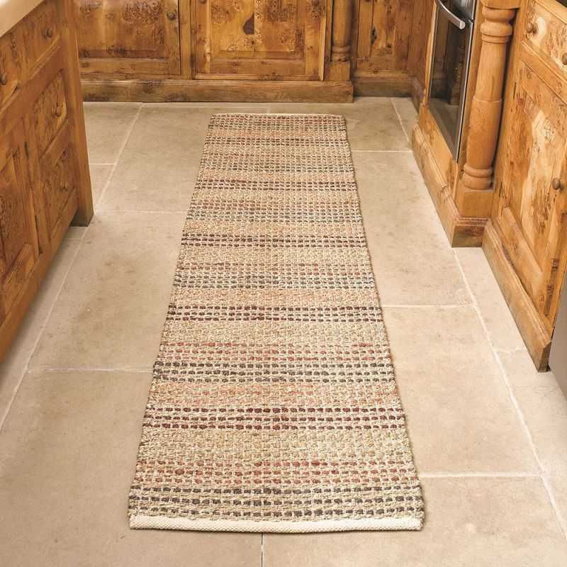 Tapis de couloir naturel seagrass flair rugs 60x230 - Tapis couloir ...