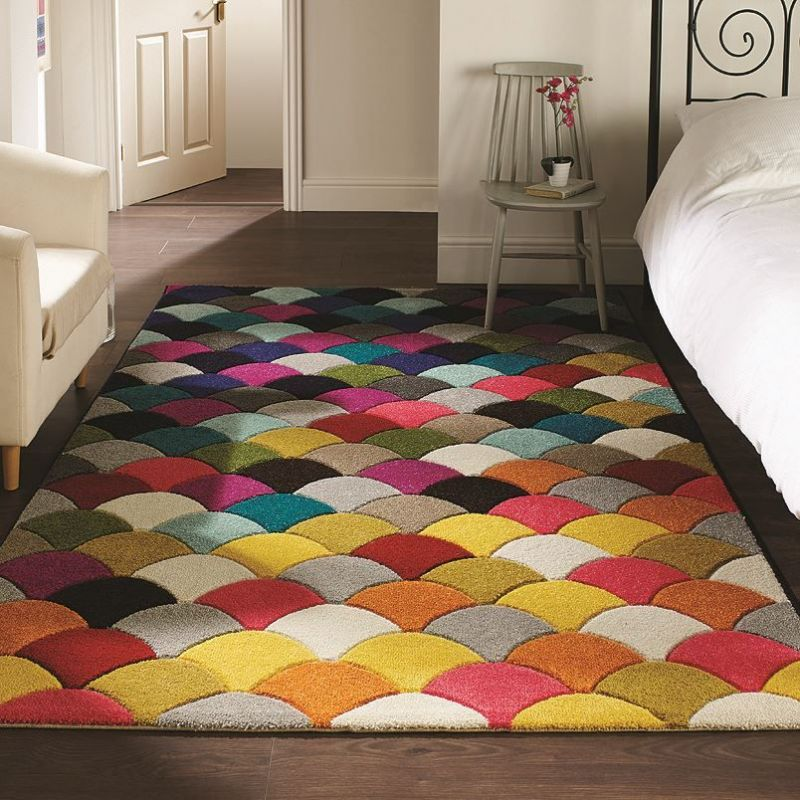 tapis jive multicolore flair rugs 80x150. Black Bedroom Furniture Sets. Home Design Ideas