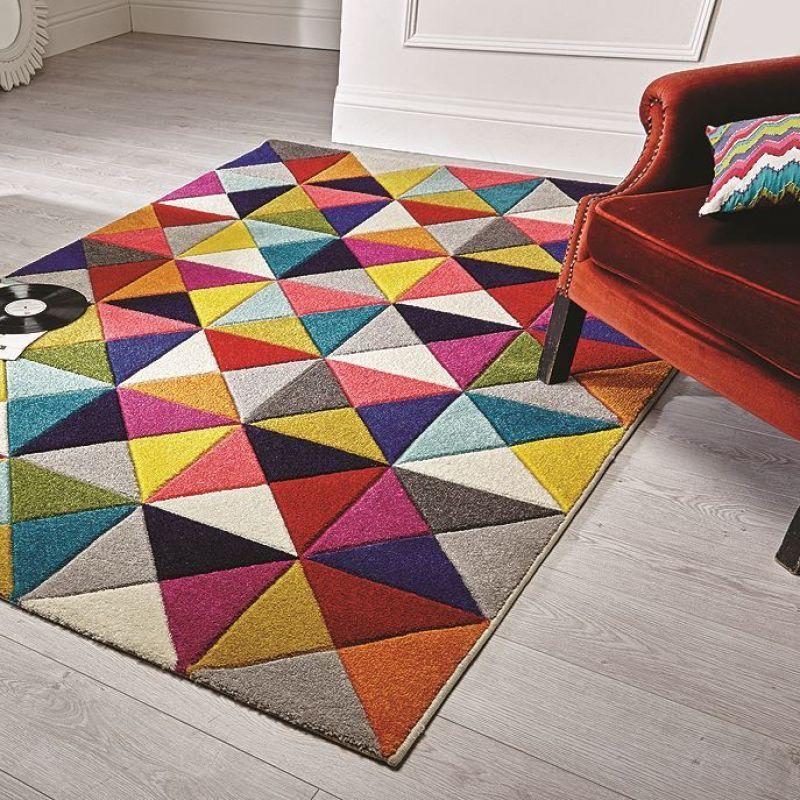 Tapis multicolore samba flair rugs 80x150 - Tapis salon multicolore ...
