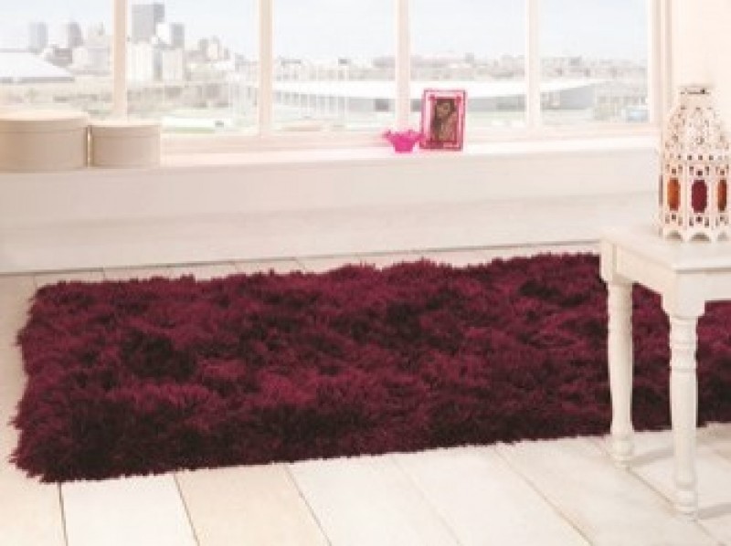 tapis shaggy tuft prune sumptuous flair rugs 80x150. Black Bedroom Furniture Sets. Home Design Ideas