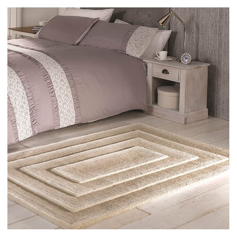 tapis fait main beige temple flair rugs 160x230. Black Bedroom Furniture Sets. Home Design Ideas