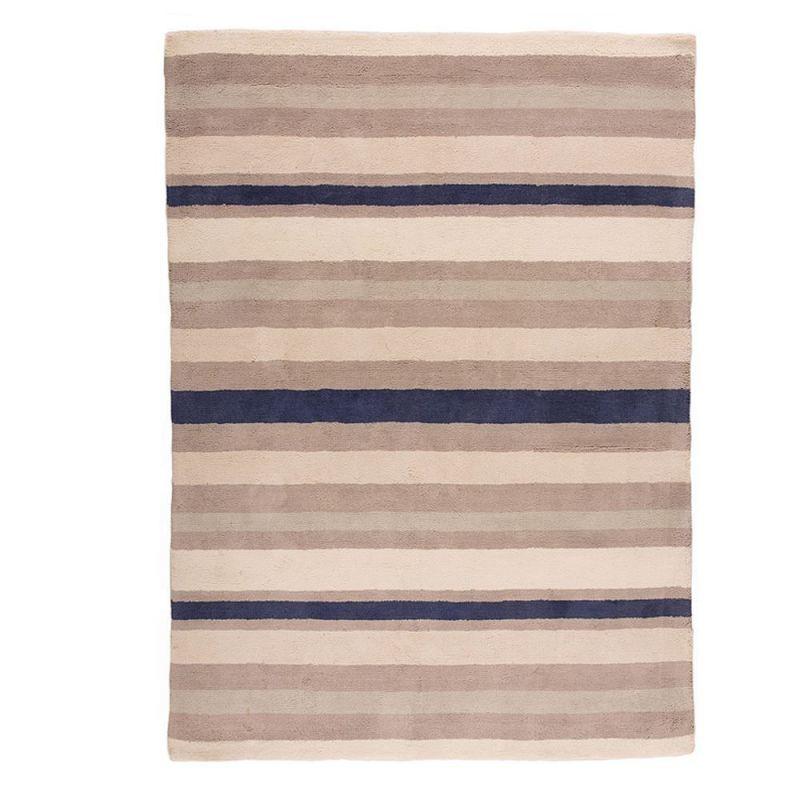 Tapis Raye Bleu Et Blanc Maison Design