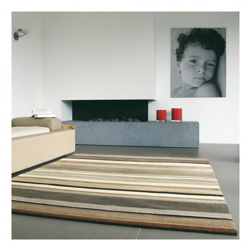 tapis brink campman fusion tracks beige 160x230. Black Bedroom Furniture Sets. Home Design Ideas