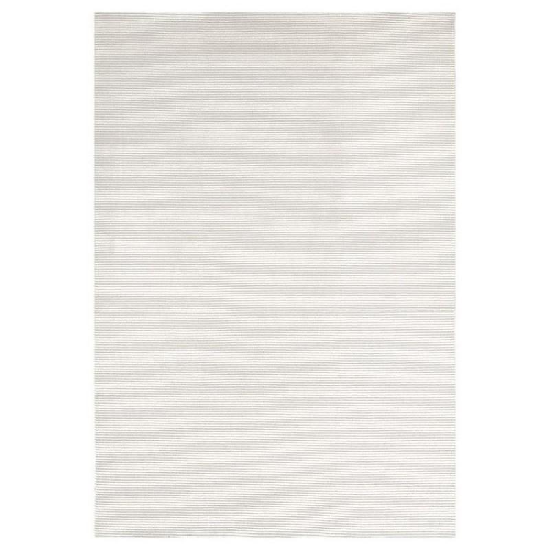 tapis viscose et laine nou main ligne pure reflect blanc 200x300. Black Bedroom Furniture Sets. Home Design Ideas