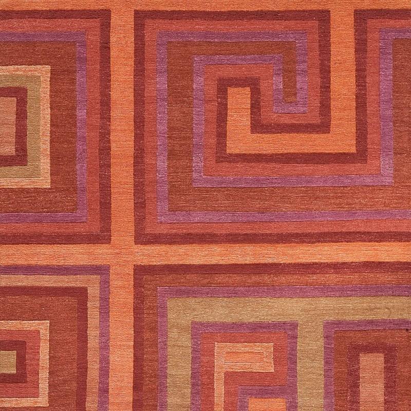 tapis love ligne pure laine tib taine orange nou main 170x240. Black Bedroom Furniture Sets. Home Design Ideas