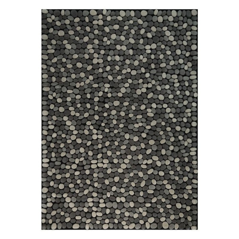 tapis laine tuft main gris vitalize ligne pure 140x200. Black Bedroom Furniture Sets. Home Design Ideas
