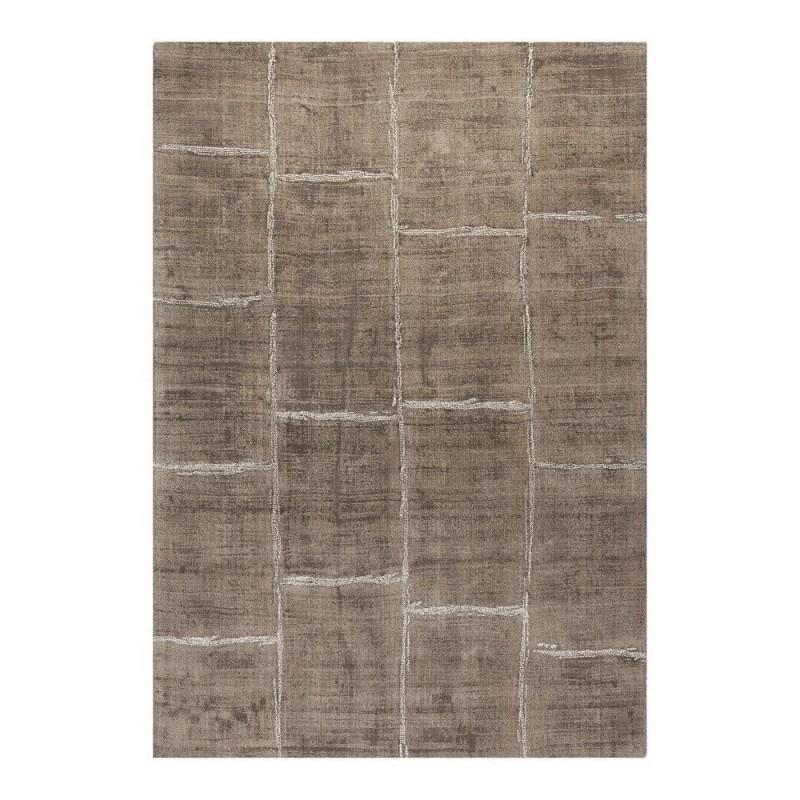 tapis tiss main en viscose taupe reflect ligne pure 200x300. Black Bedroom Furniture Sets. Home Design Ideas