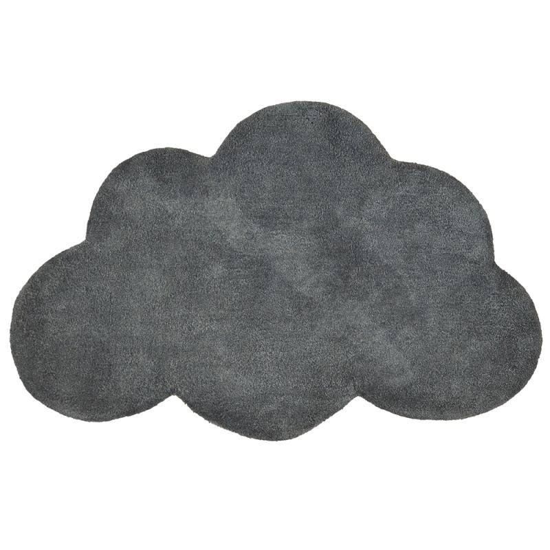 tapis enfant coton nuage gris anthracite lilipinso 64x100. Black Bedroom Furniture Sets. Home Design Ideas