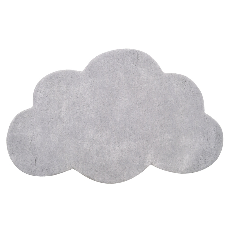 tapis enfant coton nuage gris clair lilipinso 64x100. Black Bedroom Furniture Sets. Home Design Ideas
