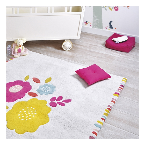 tapis enfant coton secret garden lilipinso 150x150. Black Bedroom Furniture Sets. Home Design Ideas