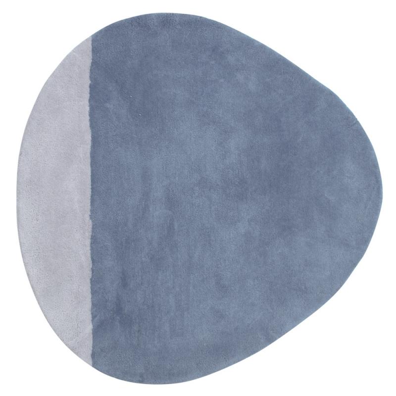 Tapis Enfant Coton Stone Bleu Lilipinso 80x80