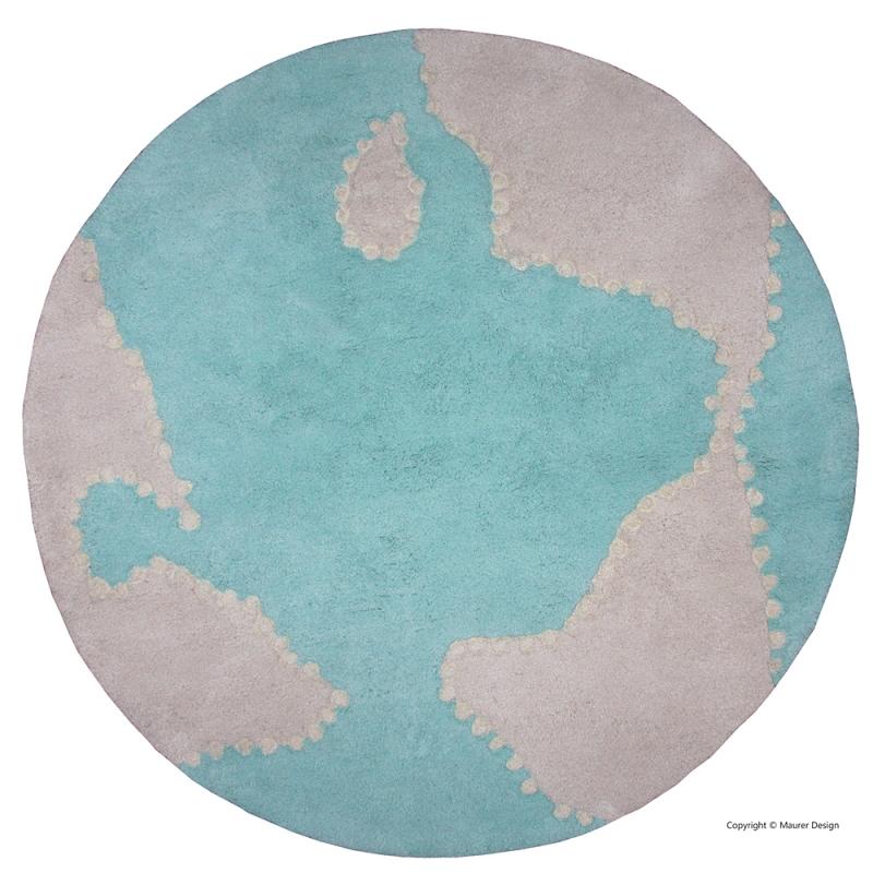 tapis rond pour enfant globe mondito bleu nattiot 110x110. Black Bedroom Furniture Sets. Home Design Ideas