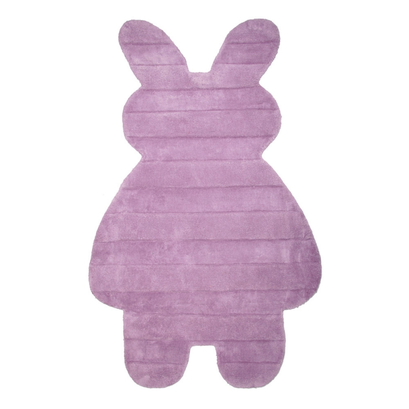 tapis enfant bunny violet nattiot 85x140. Black Bedroom Furniture Sets. Home Design Ideas