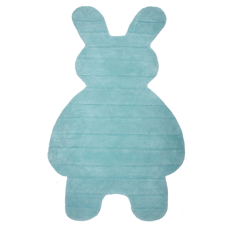 tapis enfant bunny bleu nattiot 85x140. Black Bedroom Furniture Sets. Home Design Ideas