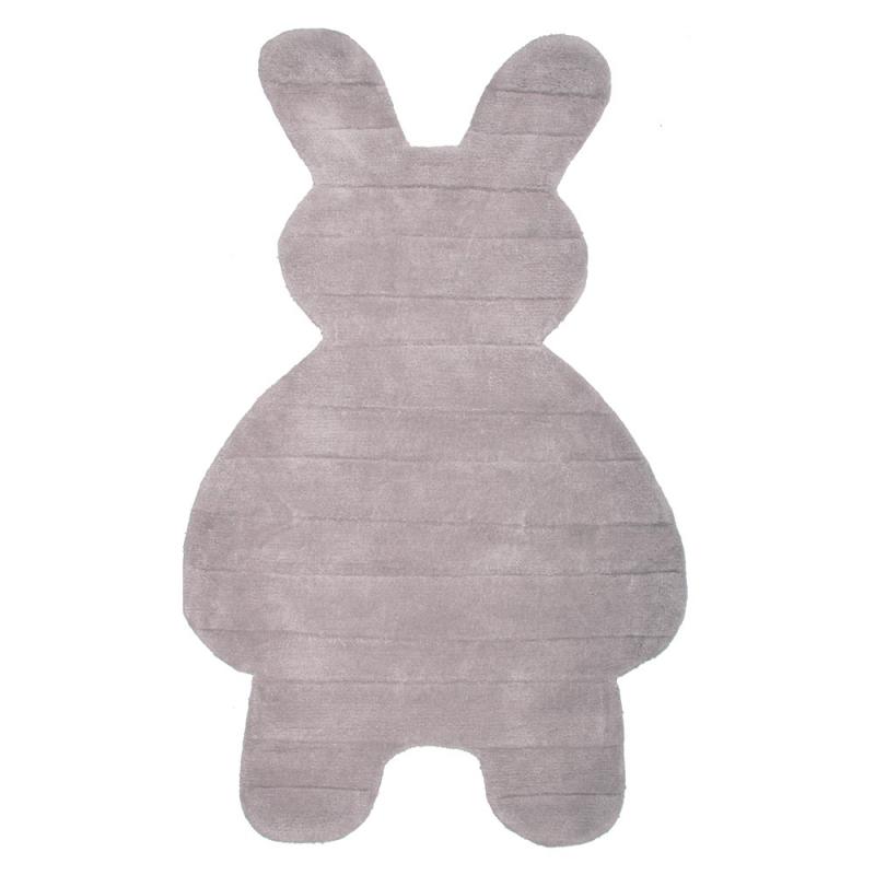 tapis enfant bunny gris nattiot 85x140. Black Bedroom Furniture Sets. Home Design Ideas