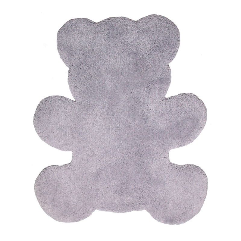 tapis enfant mischka teddy gris nattiot 80x120. Black Bedroom Furniture Sets. Home Design Ideas