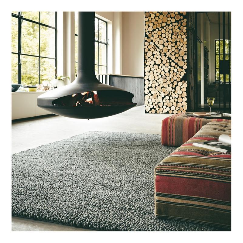 tapis pure laine vierge metal brink campman gris 170x240. Black Bedroom Furniture Sets. Home Design Ideas