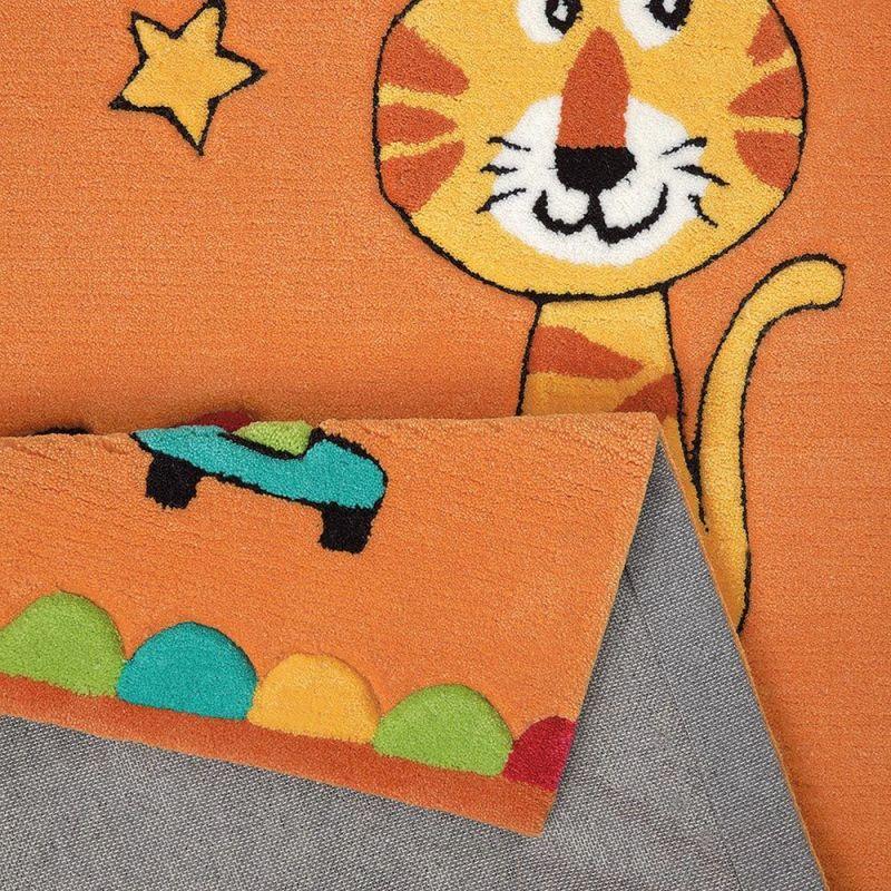 tapis enfant little artists smart kids orange 110x170. Black Bedroom Furniture Sets. Home Design Ideas