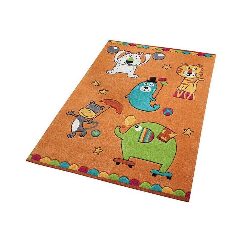 tapis orange enfant smart kids little artists 130x190. Black Bedroom Furniture Sets. Home Design Ideas