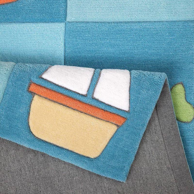 tapis enfant tuft main bleu newborn smart kids 150x220. Black Bedroom Furniture Sets. Home Design Ideas
