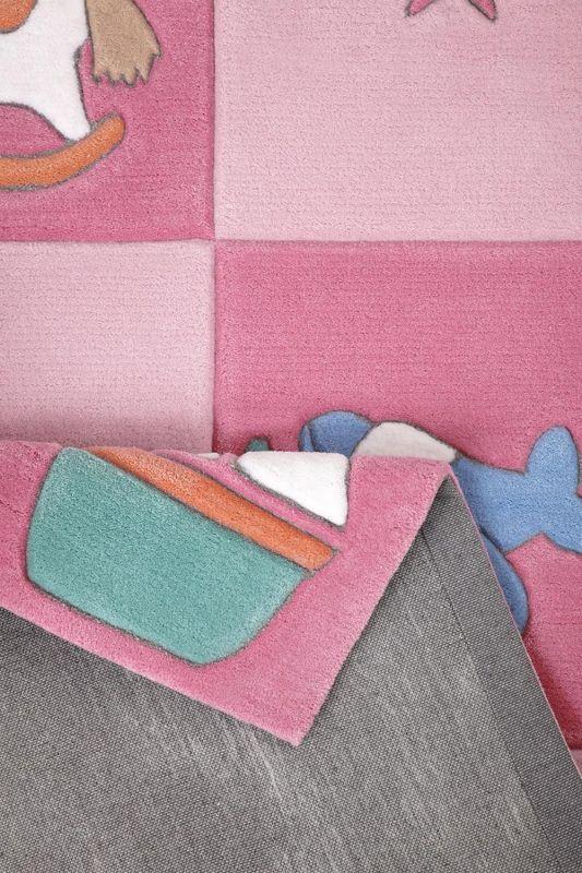 tapis enfant tuft main rose newborn smart kids 150x220. Black Bedroom Furniture Sets. Home Design Ideas