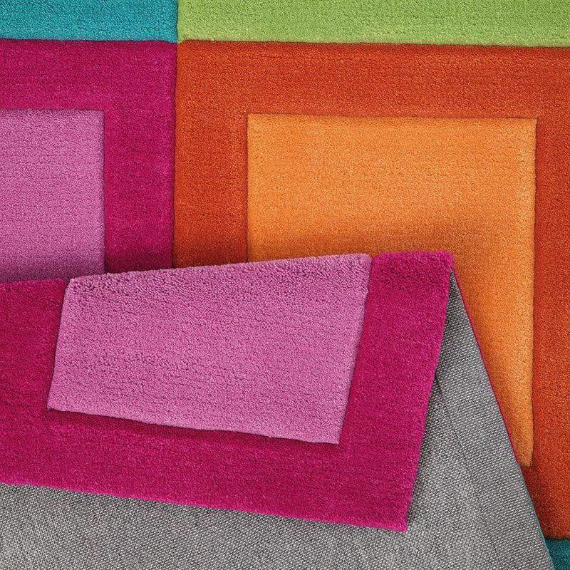 tapis smart kids enfant smart button multicolore tuft main 110x170. Black Bedroom Furniture Sets. Home Design Ideas