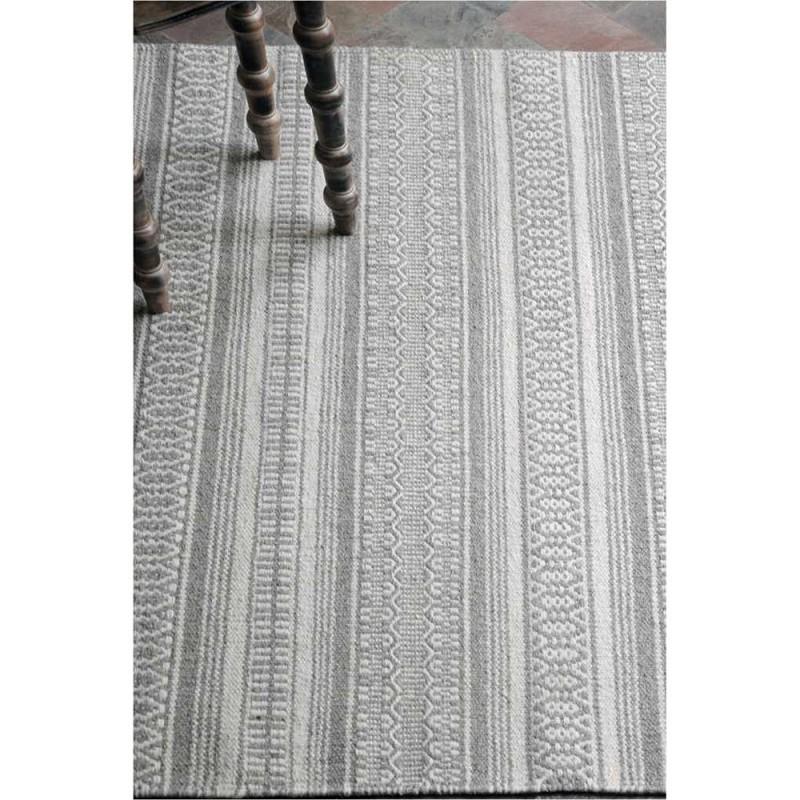 tapis en laine tiss main dansville gris the rug republic 160x230. Black Bedroom Furniture Sets. Home Design Ideas