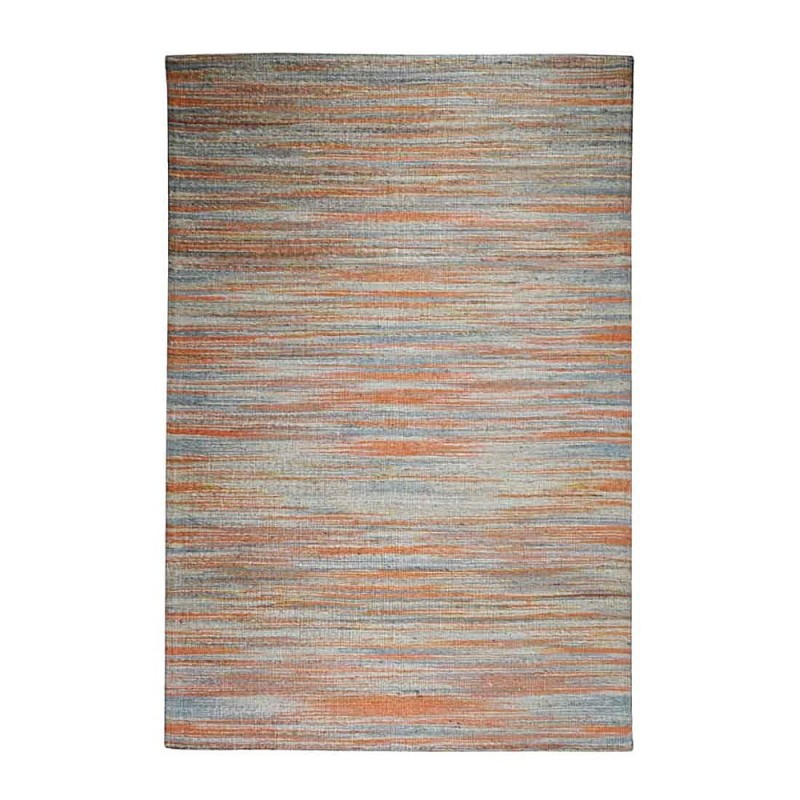 tapis tiss main beige et orange the rug republic shiro 190x290. Black Bedroom Furniture Sets. Home Design Ideas
