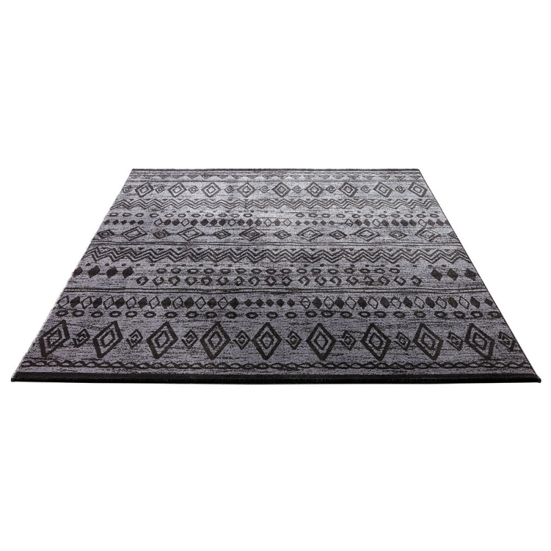 tapis esprit home contemporary kelim anthracite 133x200. Black Bedroom Furniture Sets. Home Design Ideas